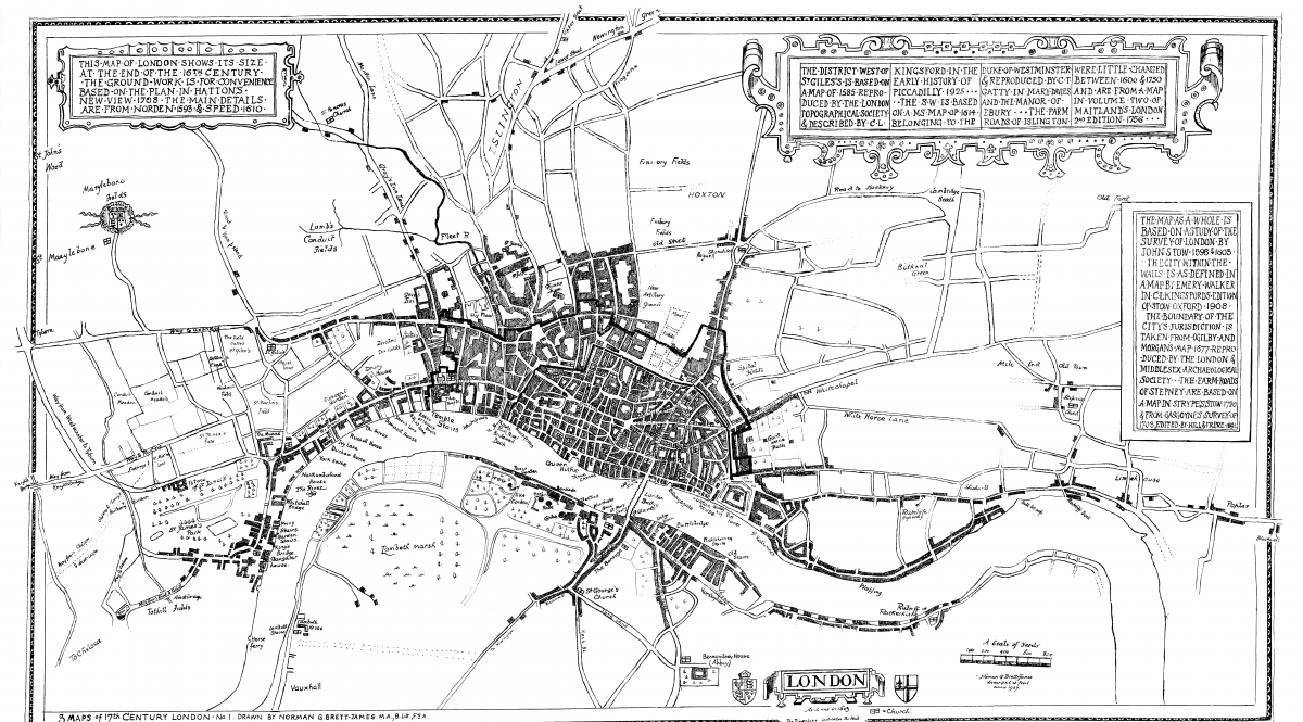 Map 1 London 16th Century