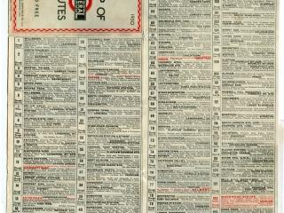 1930 No3 General Bus Routes List part 1