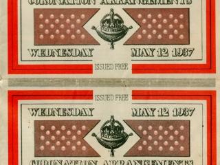 1937 coronation arrangements cover