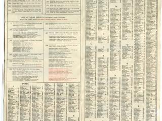 1947 No2 Central Area Bus Map routes list 02