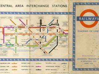 1951 Tube Map back