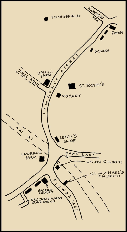 Lawrence Street map