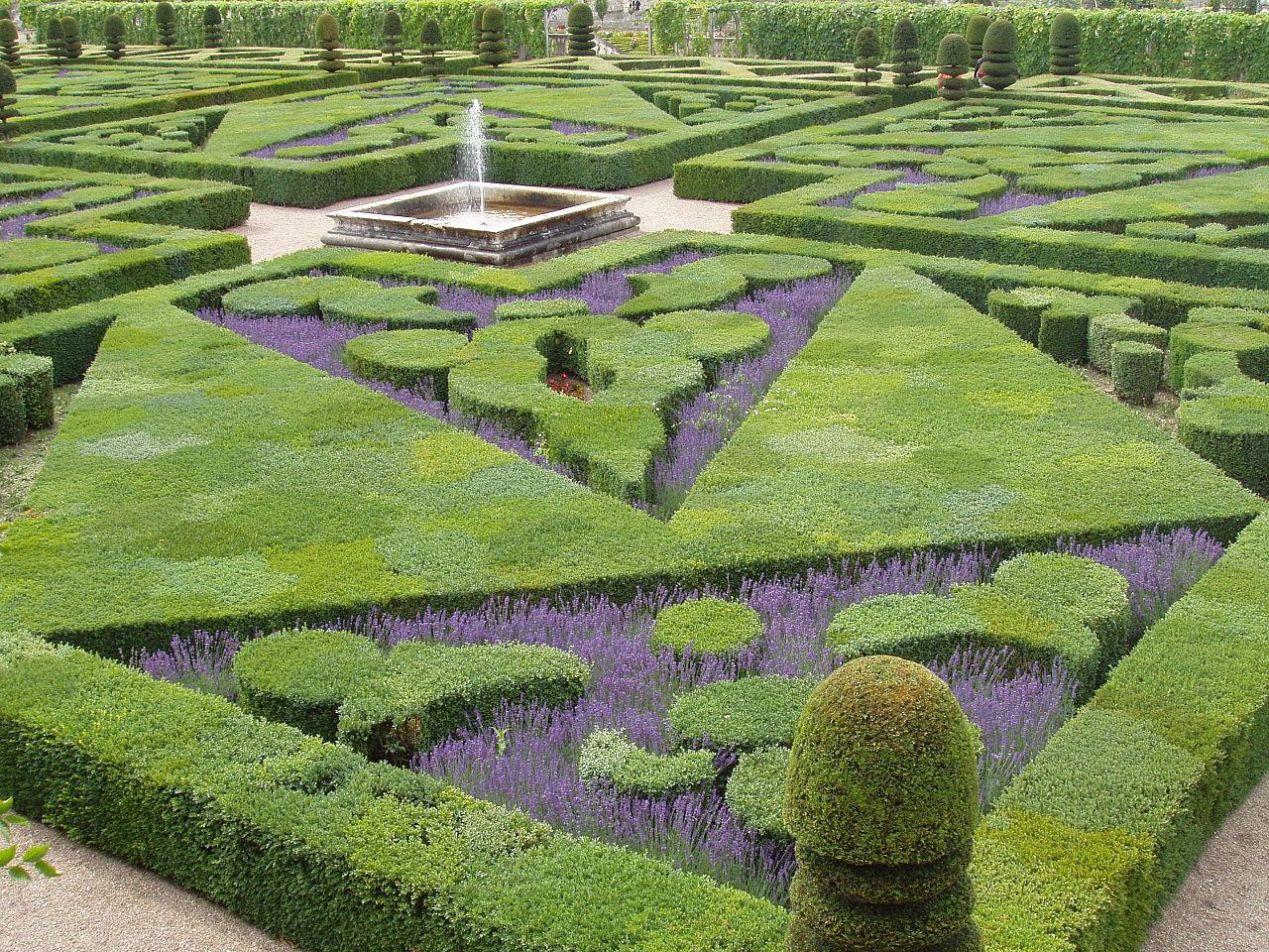 Chateau Villandry garden, Loire Valley, 2004